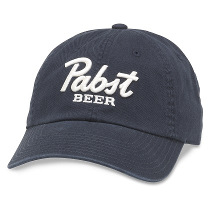 Pabst Beer Navy-Blue Strapback Hat