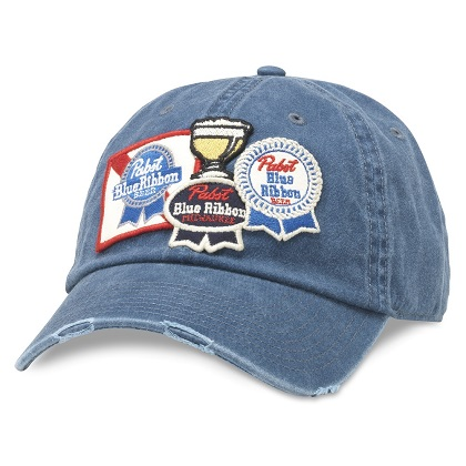 Pabst Navy-Blue Iconic Patches Adjustable Strapback Hat