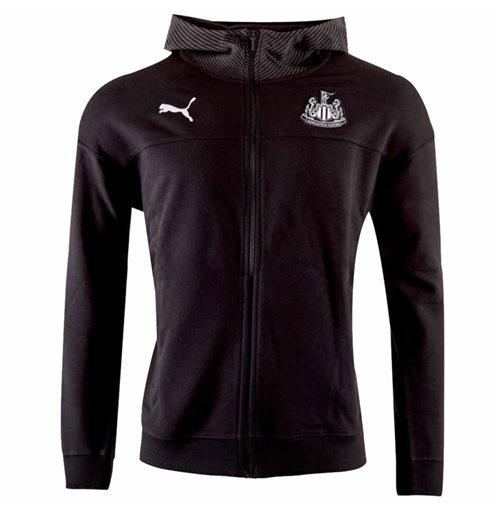 2019-2020 Newcastle Puma Casual Zip Hoodie (Black)