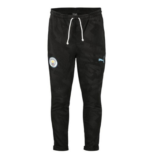 2019-2020 Manchester City Casuals Sweat Pants (Black)