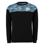 2019-2020 Manchester City Puma Casuals Sweat Top (Black)