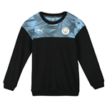 2019-2020 Manchester City Puma Casuals Sweat Top (Black) - Kids