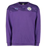 2019-2020 Manchester City Puma Casuals Sweat Top (Purple)