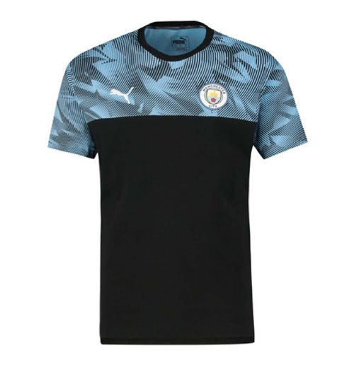 2019-2020 Manchester City Puma Casuals Tee (Black)