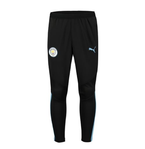 2019-2020 Manchester City Puma Pro Training Pants without Pockets (Black)