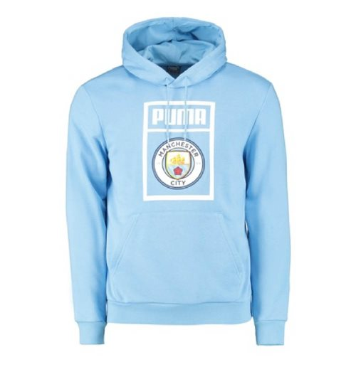 2019-2020 Manchester City Puma Shoe Tag Hoody (Blue)