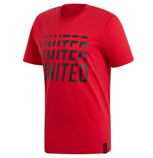 2019-2020 Man Utd Adidas DNA Graphic Tee (Red)