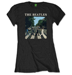 The Beatles Ladies Tee: Abbey Road & Logo (Retail Pack)