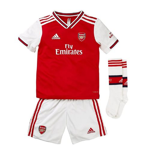 2019-2020 Arsenal Adidas Home Little Boys Mini Kit
