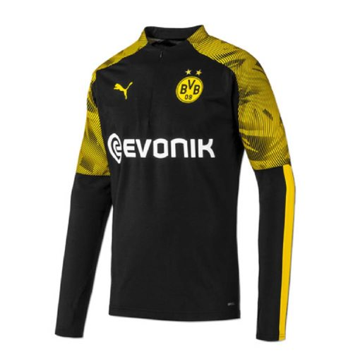2019-2020 Borussia Dortmund Puma Half Zip Training Top (Black) - Kids