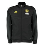 2019-2020 Man Utd Adidas Presentation Jacket (Black)