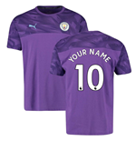 2019-2020 Manchester City Puma Casuals Tee (Purple) (Your Name)