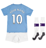 2019-2020 Manchester City Home Little Boys Mini Kit (Your Name)