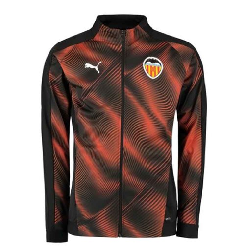 2019-2020 Valencia Puma Stadium Jacket (Black)