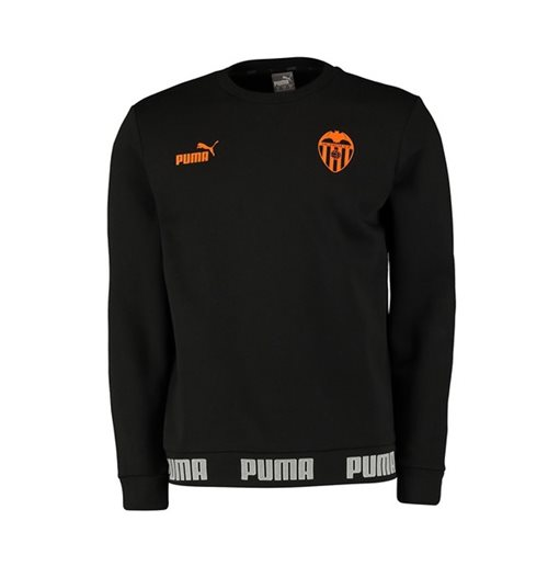2019-2020 Valencia Puma Football Culture Sweat Top (Black)