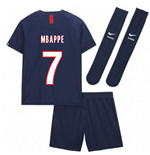 2019-2020 PSG Home Nike Little Boys Mini Kit (MBAPPE 7)