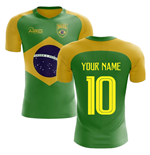 2018-2019 Brazil Flag Concept Football Shirt (Your Name)