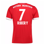 2017-18 Bayern Munich Home Short Sleeve Shirt (Ribery 7)