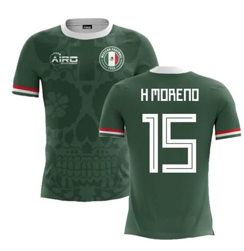 2018-2019 Mexico Home Concept Football Shirt (H Moreno 15)
