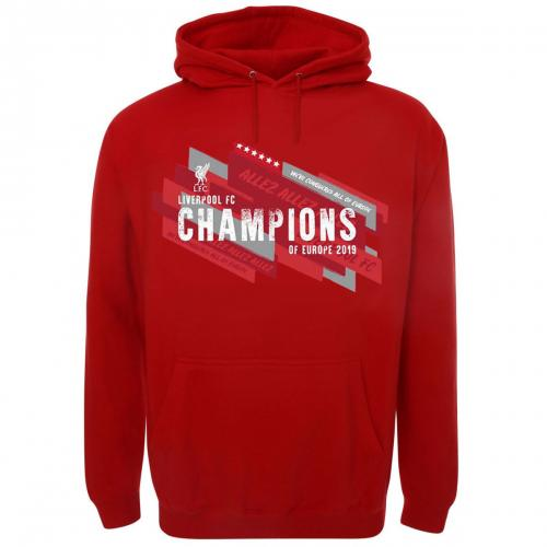 Liverpool F.C. Champions Of Europe Hoodie Mens L