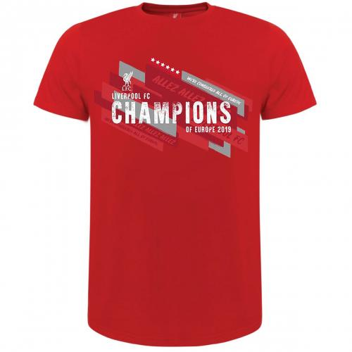 Liverpool F.C. Champions Of Europe T Shirt Mens XL