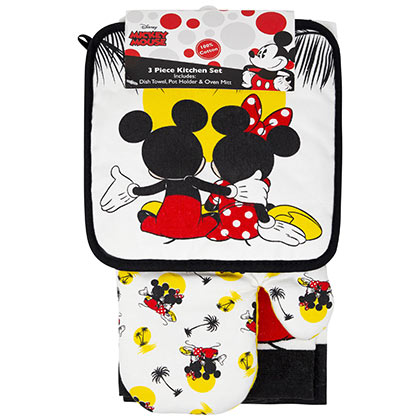 Mickey And Minnie Mouse Sunset Kitchen Towel Set
