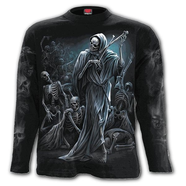 Dance Of Death - Longsleeve T-Shirt Black (Plain)