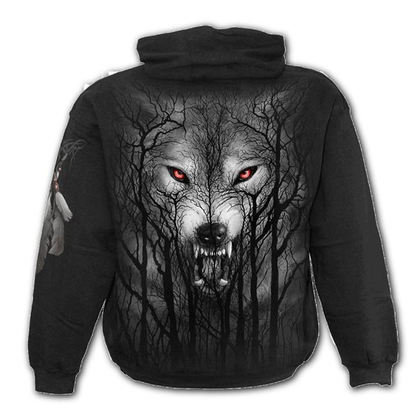 Forest Wolf - Hoody Black (Plain)