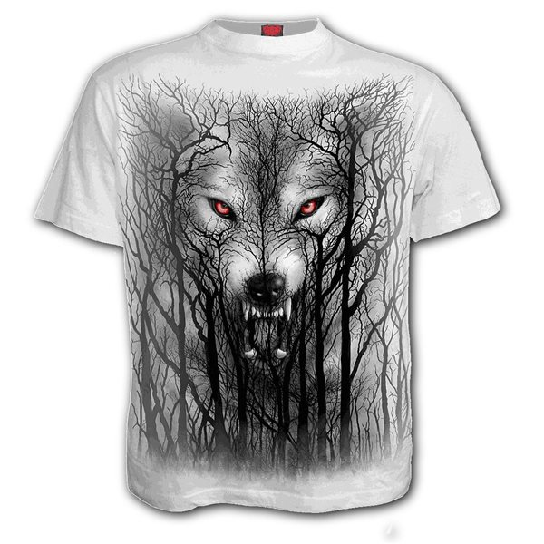 Forest Wolf - T-Shirt White (Plain)