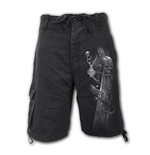 Strapped - Vintage Cargo Shorts Black (Plain)