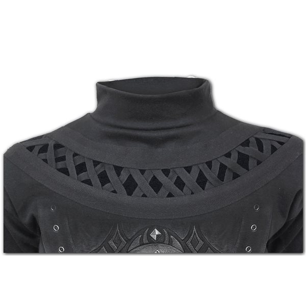 Strapped - Watefall Slits Longsleeve Top