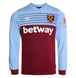 2019-2020 West Ham Long Sleeve Home Football Shirt