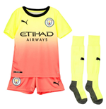 2019-2020 Manchester City Third Little Boys Mini Kit