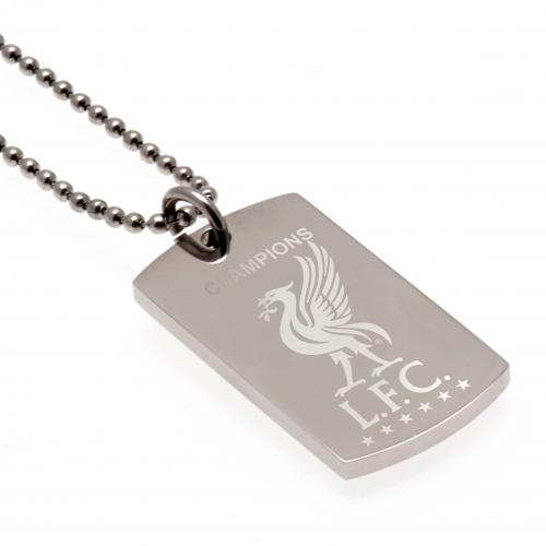 Liverpool F.C. Champions Of Europe Engraved Dog Tag & Chain