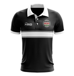 Kenya Concept Stripe Polo Shirt (Black)