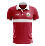 Wales Concept Stripe Polo Shirt (Red)