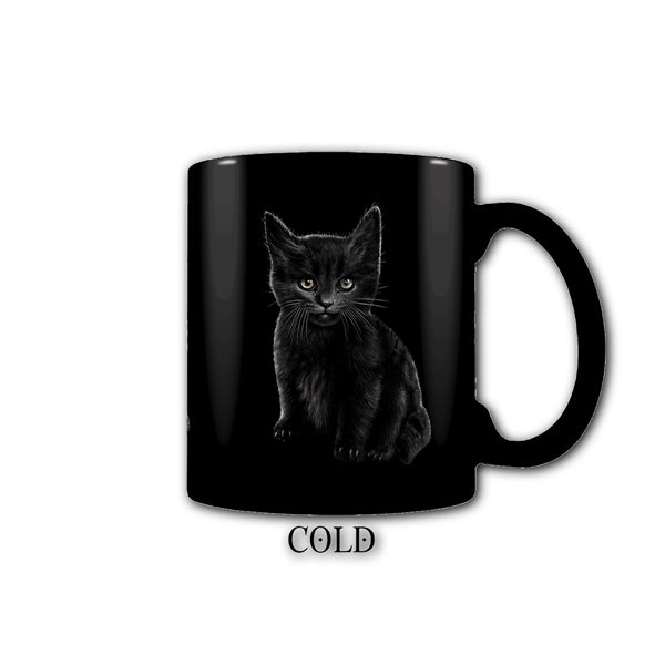 Bat Cat - Heat Change Ceramic Coffee Mug - Gift Boxed