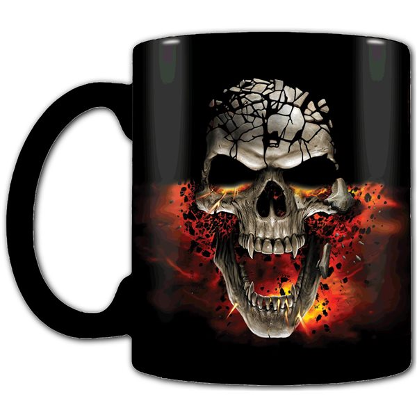 Skull Blast - Heat Change Ceramic Coffee Mug - Gift Boxed