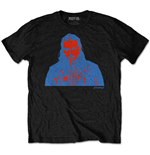 Post Malone Unisex Tee: Red & Blue Photo