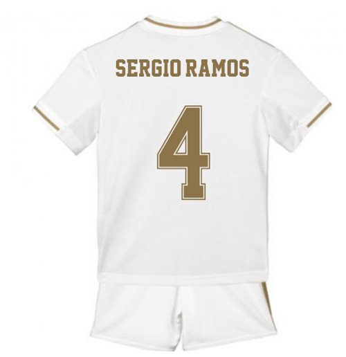2019-2020 Real Madrid Adidas Home Mini Kit (SERGIO RAMOS 4)