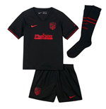 2019-2020 Atletico Madrid Away Nike Little Boys Mini Kit