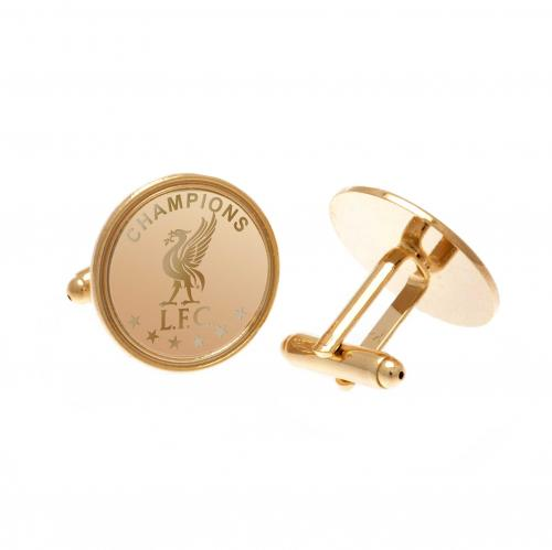 Liverpool F.C. Champions Of Europe Gold Plated Cufflinks