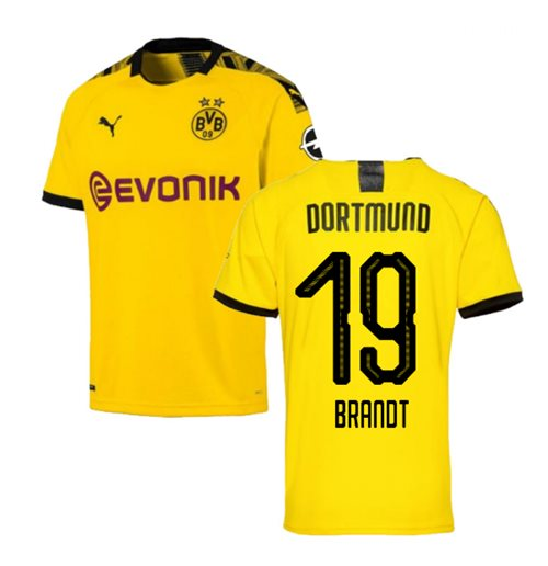 2019-2020 Borussia Dortmund Puma Home Football Shirt (Brandt 19)