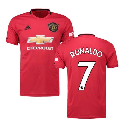 new style 21f69 f989e 2019-2020 Man Utd Adidas Home Football Shirt (RONALDO 7)