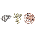 Game of Thrones Set of 3 Pins House Crests