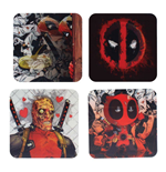 Deadpool Lenticular Coaster 4-Pack