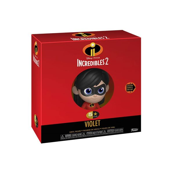 The Incredibles 2 5-Star Action Figure Violet 8 cm