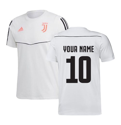2019-2020 Juventus Adidas Training Tee (White) (Your Name)