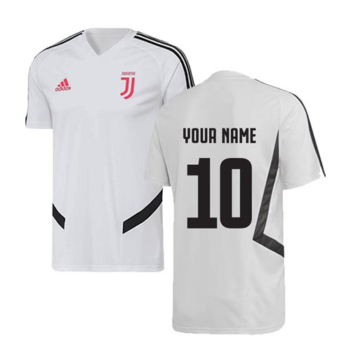 2019-2020 Juventus Adidas Training Shirt (White) (Your Name)