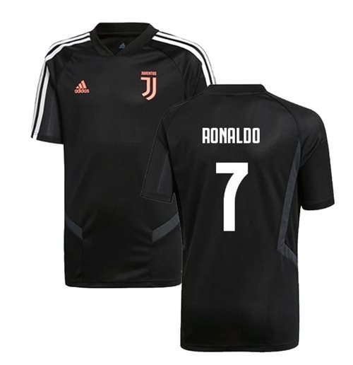 2019-2020 Juventus Adidas Training Shirt (Black) (Ronaldo  7)
